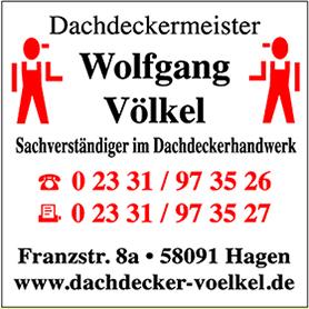 Dachdecker Wolfgang Völkel