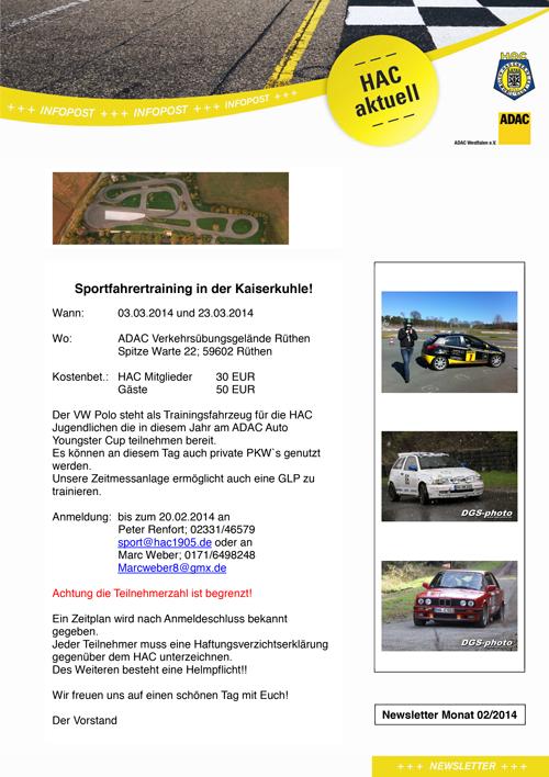 2014_02_07_HAC1905_Sportfahrertraining_EinladungVorschau