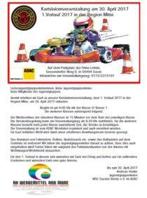 1. Vorlauf im Kartslalom beim MSC Soester Börde am 30.04.2017