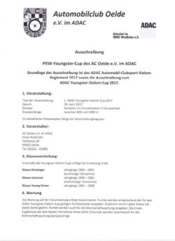 Youngster Slalomcup am 30.04.2017 beim AC Oelde