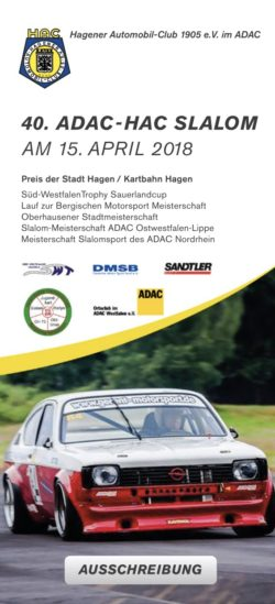 Online Nennung zum 40. HAC Automobilslalom
