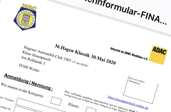 Onlinenennung für die Hagen-Klassik jetzt aktiv