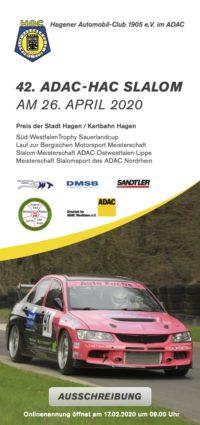 Ausschreibung 42. HAC Slalom