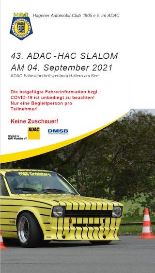 Nennungen für den 43. HAC Automobilslalom am 04.09.2021